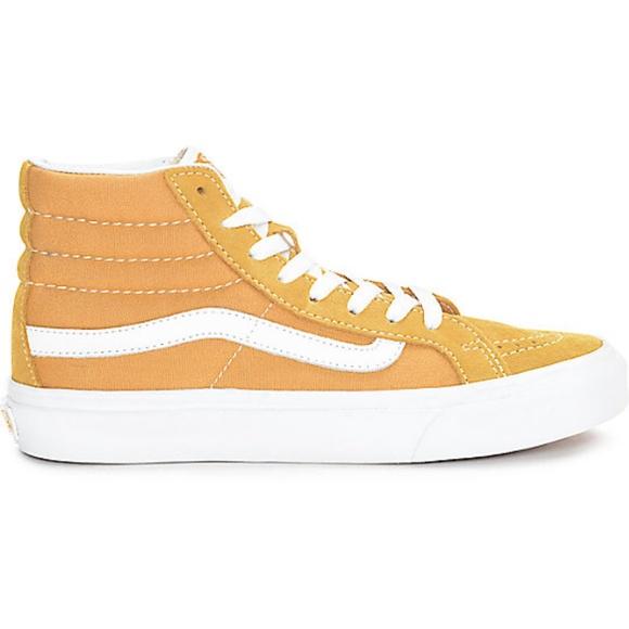 3a702a786e Vans Sk8-Hi Amber Gold Skate Shoes Women s